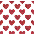 red hearts in the crystalline style vector image