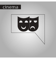 black and white style icon theater masks vector image