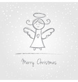 Christmas angel doodle vector image