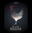 2017 year rooster-01 vector image