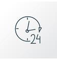 24 hour service icon line symbol premium quality vector image vector image