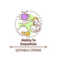 ability to empathize concept icon