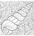 adult coloring bookpage a cute shell image vector image vector image