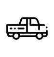 agricultural pickup cargo thin line icon vector image vector image