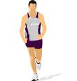 al 0734 jogging 01 vector image vector image