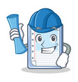 architect clipboard character cartoon style vector image