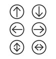 arrow in circle icon set collection of round vector image