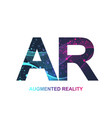 Augmented reality concept banner ar virtual