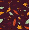 Autumn leaves seamless pattern freehand drawing