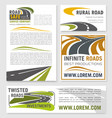 banners for road construction investment vector image vector image
