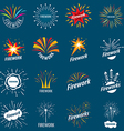 biggest collection of logos for fireworks vector image vector image