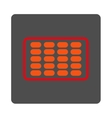 Blister Rounded Square Button vector image vector image
