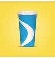 Blue and white Paper Cup Template for Drinks vector image