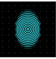 blue centric circles icon biometric security vector image