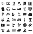 bomb icons set simple style vector image vector image