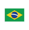 brazil flag flat style icon design vector image vector image