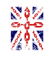 British flag t shirt typography graphics chain vector image vector image