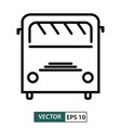 bus icon symbol flat design isolated on white eps vector image