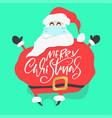 Cartoon fun santa claus with medical face mask