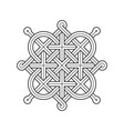 celtic knot - single chain - diagonal rods vector image vector image