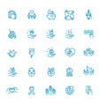 charity - modern line design icons vector image