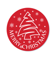 christmas round card vector image vector image