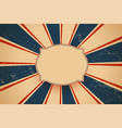 classic old retro background with sunburst lines vector image vector image
