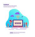 concept domain modern conceptual for banner vector image