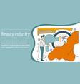 concept of beauty industry vector image