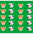 Cow Face emotion Icon set of emoji vector image