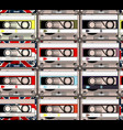 creative hipster background with retro cassettes vector image