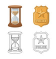design of law and lawyer logo set of law vector image vector image