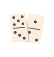 dominoes flat isolated vector image vector image