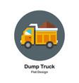 dump truck flat icon vector image