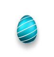 easter egg 3d icon blue color egg isolated white vector image vector image