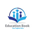 education book logo designs vector image
