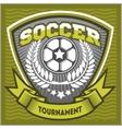 Football badge logo template designsoccer team vector image vector image