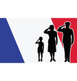 France soldier family salute vector image vector image