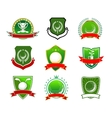 Golf emblems and logos in heraldic style vector image vector image