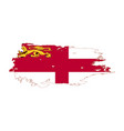 grunge brush stroke with sark national flag vector image vector image