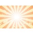 grunge sunburst background vector image vector image