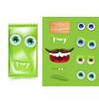 halloween emoji creator constructor of candy vector image