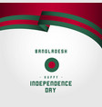 happy bangladesh day template design vector image