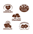 icons set for chocolate desserts vector image vector image
