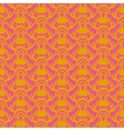 Indian pattern in pink and gold vector image