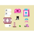 Kitten and accessories vector image vector image