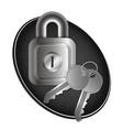 lock and keys metal vector image vector image