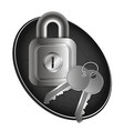 lock and keys of metal vector image