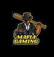 logo mafia gaming e sport and sport style vector image