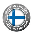 made in finland flag metal icon vector image vector image
